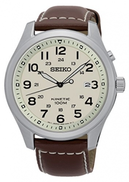 Seiko Herren-Armbanduhr Analog Quarz Leder SKA723P1 -