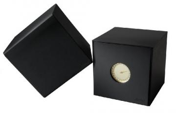 Slow Jo 18-Dunkelbraun Vintage Leder gold Fall Gold Zifferblatt Unisex Quarzuhr mit Gold Zifferblatt Analog-Anzeige und dunkelbraun Lederband -