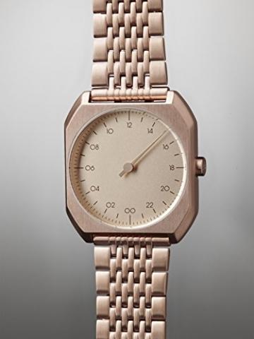 Slow MO 05-alle Rose Gold Stahl Unisex Quarzuhr mit Rose Gold Zifferblatt Analog-Anzeige und Rose Gold Edelstahl Rose vergoldet Armband -