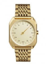 slow Unisex-Armbanduhr slow Mo 04 - All Gold Steel Analog Gold slow Mo 04 -
