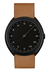 slow Unisex-Armbanduhr slow O 11 - Brown Vintage Leather, Black Case, Black Dial Analog Leder Braun slow O 11 -