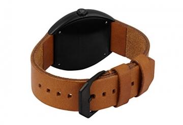 slow Unisex-Armbanduhr slow O 11 - Brown Vintage Leather, Black Case, Black Dial Analog Leder Braun slow O 11 -